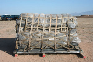 Image of storage conditions that can cause damage to lift bags.